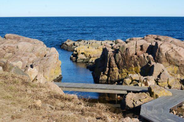 Plankestien ved roegeriet i allinge paa bornholm